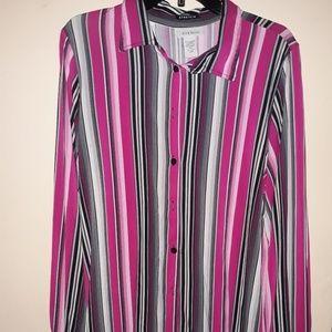 Avenue Striped button down shirt